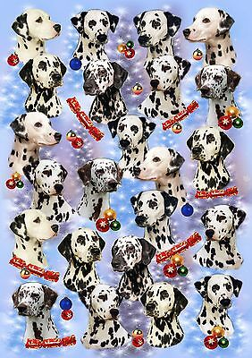 Dalmatian Dog Christmas Wrapping Paper by Starprint - Auto combined postage