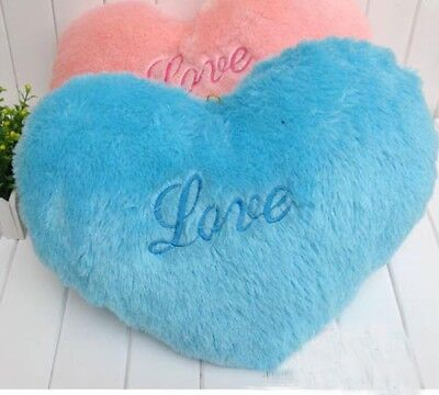 """Valentine's day gifts Blue Heart """"Love"""" Pillow/Cushion 45CM love's gift"""