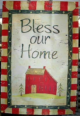 """Bless Our Home  29"""" x 43"""" full size decorative flag"""