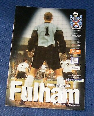 Fulham Home Programmes 1998-1999