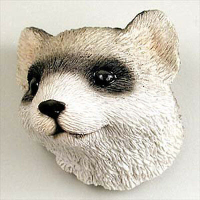 FERRET Head Painted Stone Resin MAGNET
