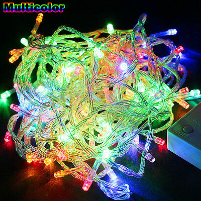 Nice Multi-Color Waterproof 10M 100LED Bulbs Christmas Fairy Party String Lights