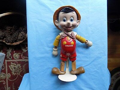 "1939 DISNEY 10"" COMPOSITE- WOOD JOINTED  PINOCCHIO DOLL"