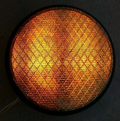 "8"" General Traffic Light LED Yellow Lens Signal Sign - Man Cave / Bar / Garage"
