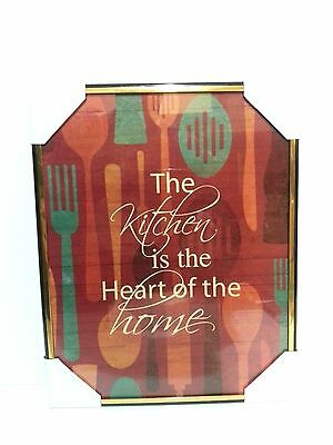 The Kitchen is the Heart of The Home   Inspirational Wall Picture, Wall Plaque