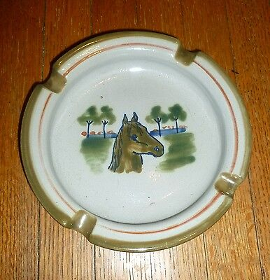 vintage Horse Dish LOUISVILE STONEWARE POTTERY ASHTRAY Southern Folk Art USA