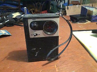 Xam Transistor Am/fm Radio Model M-369 Works Vintage Radio