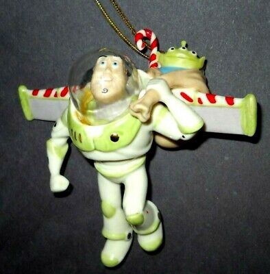 LENOX MERRY CHRISTMAS and HAPPY LIGHTYEAR BUZZ Ornament NEW in BOX Toy story