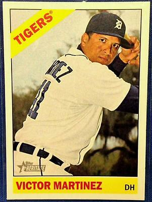 2015 TOPPS HERITAGE HIGH NUMBER SP VICTOR MARTINEZ #491 ~ TIGERS