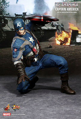 "Hot Toys 12"" CAPTAIN AMERICA MMS156 The First Avenger Steve Rogers 1/6 Figure"