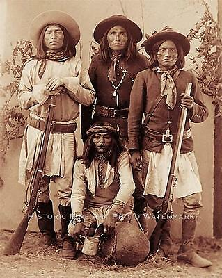 WESTERN APACHE UNITED STATES  ARMY INDIAN SCOUTS VINTAGE PHOTO OLD WEST #20853