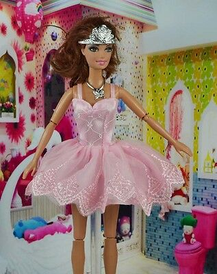 lovely New Handmade Party Clothes Fashion Dress for Noble  Doll      bab49