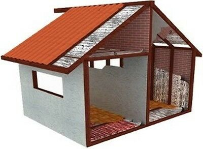 Shed & Home Insulation  Silver Foilair Bubbl Cell Extra Thick Hd 20 Sq Meter~