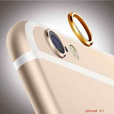 for Apple iPhone 6 Camera Lens Protective Case Cover Ring Installed gold