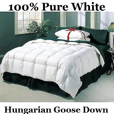 King Bed Size 10.5 Tog 100% Pure Hungarian Goose Down Duvet / Quilt