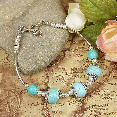 NEW Free shipping Tibet silver Pendant jade turquoise bead DIY bracelet S295D
