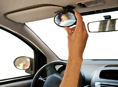 Car Interior Baby & Child Watcher Safety Mirror 2-in-1 with Clamp & Suction Cup
