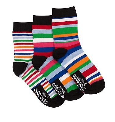 United Oddsocks 12 - 6 UK Size Stripe Stripy Bright Fun Design Odd Socks Boys