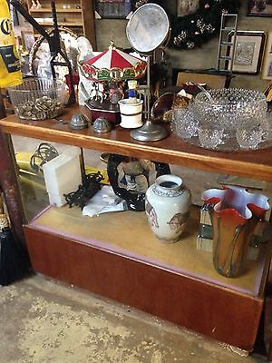 Antique Display Case Wood And Glass Staten Island Pick Up