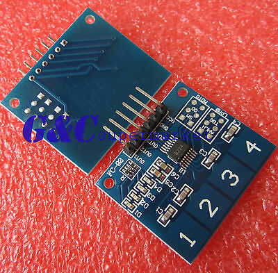 2PCS TTP224 4-Channel Digital Touch Sensor Module Capacitive Touch Switch M61