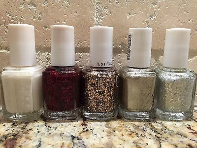 LOT OF 5 ESSIE NAIL POLISH LACQUER! NEW! FIVE DIFFERENT COLORS! WALTZ!