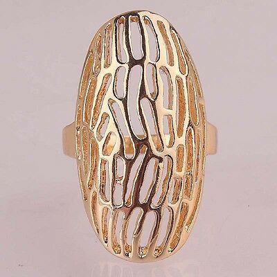 High Quality Woman Man 14k Gold Filled US size 10 Hollow Out Ring Jewelry C114