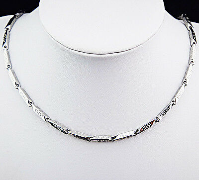 Hot Sale 316L Stainless Steel Silver Fashion Chain Necklace Women Mens Jewelry