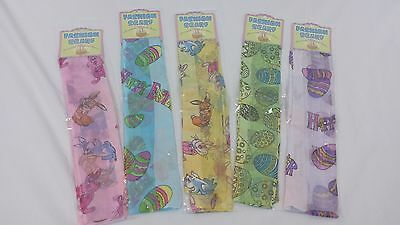 LADIES EASTER SCARF BUNNIES EGGS 5 ASSORTED COLORS TO CHOOSE FROM