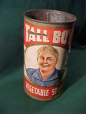 "Old ""Tall Boy Vegetable Soup"" Can, Scottsburg Canning Co., Scottsburg Indiana"