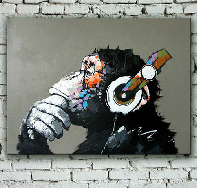 HandPainted Modern Abstract Monkey Oil painting On Canvas (no frame)