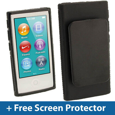 Black TPU Clip Gel Case for New Apple iPod Nano 7th Generation 7G Cover Shell