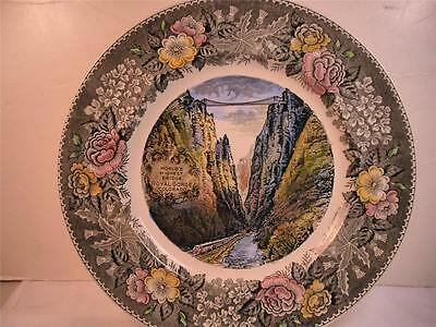 Adams Olde English Staffordshire China Royal Gorge Collector Plate - England