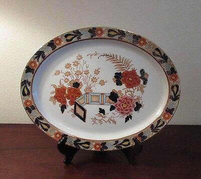 Enoch Wood & Sons Red Wincanton oval serving platter 16 inches