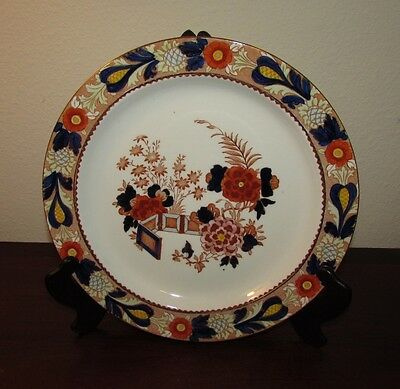 Lot of 8 Enoch Wood & Sons Red Wincanton dinner plates 10 inches
