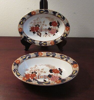 Pair of Enoch Wood & Sons Red Wincanton vegetable bowls