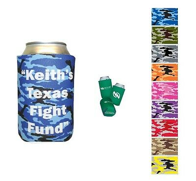 50 IMPRINTED KOOZIES Urban Camo Can Cooler Huggies - MORE PRODUCTS IN OUR STORE