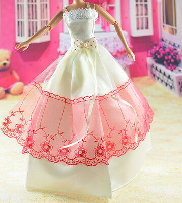 lovely New Handmade Party Clothes Fashion Dress for Noble Barbie Doll   **bab38