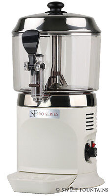 Commercial Drinking Chocolate Machine Hot Beverage Dispenser - White - 5L
