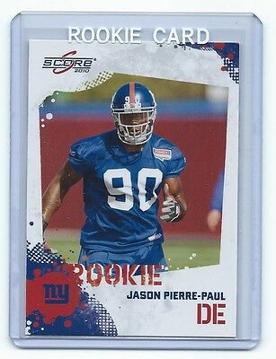 2010 Score Jason Pierre-Paul New York Giants Rookie Card 5385