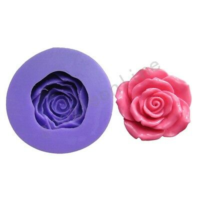 Rose A Silicone Mold For Fondant Cake Chocolate Decorating Candy Clay Sugarcraft