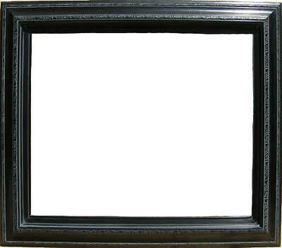"Off-Black wood frame for 24x36"" or 36x24"" oil painting"