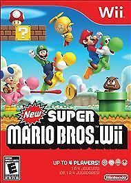 New Super Mario Bros Wii  Factory SEALED! NEW FREE Shipping!