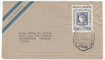 Argentina 1956 Stamp of Corrientes First Day Cover Sc 651