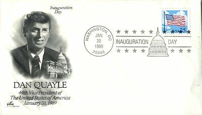 DAN QUAYLE 44TH VICE PRESIDENT OF USA ARCRAFT CACHET ON COVER