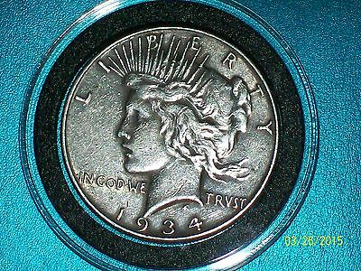 1934-P PEACE SILVER DOLLAR-XF (VERY RARE KEY DATE(LOT OF 1)1 DAY)FREE S/H
