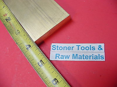 "1/2"" x 2"" C360 BRASS FLAT BAR 4"" long Solid .500"" Plate Mill Stock H02"