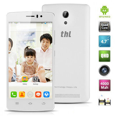 """Unlocked THL 4000 Smartphone Quad Core 3G WCDMA 4.7"""" Android 4.4 8GB T-Mobile"""