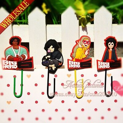 4pcs Big Hero 6 Office School Supplie DIY Bookmark,Paper clips,Book Holiders 02