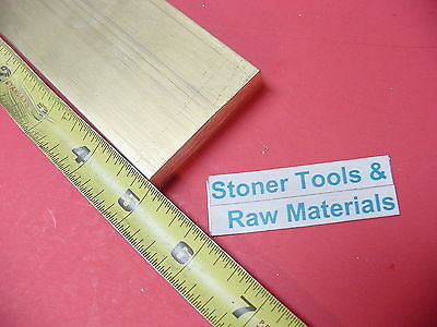 "1/2"" x 2"" C360 BRASS FLAT BAR 5"" long Solid Plate Mill Stock H02 .50""x 2.00""x 5"""