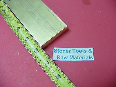 "1/2"" x 2"" C360 BRASS FLAT BAR 6"" long Solid Plate Mill Stock H02 .50""x 2.00""x 6"""